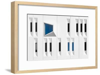 Composition in White, Black and Blue-Michiel Hageman-Framed Photographic Print