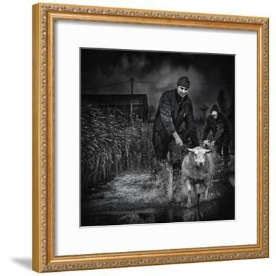Escape from the Flood-Piet Flour-Framed Photographic Print
