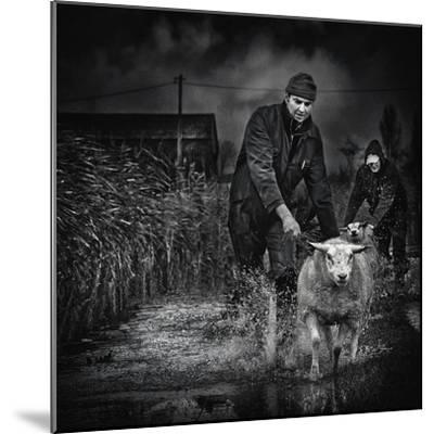 Escape from the Flood-Piet Flour-Mounted Photographic Print
