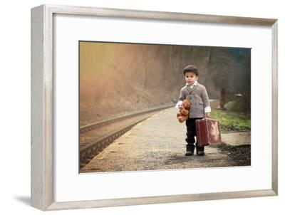 The Little Traveler-Tatyana Tomsickova-Framed Photographic Print