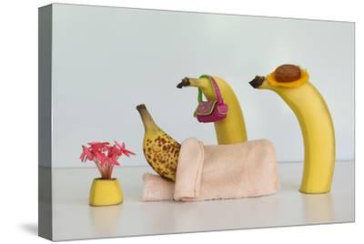 Sick Banana-Jacqueline Hammer-Stretched Canvas Print