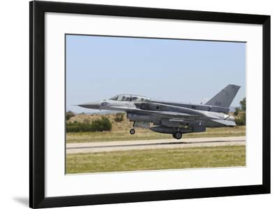 F-16D Falcon from the Republic of Singapore Air Force Landing-Stocktrek Images-Framed Photographic Print