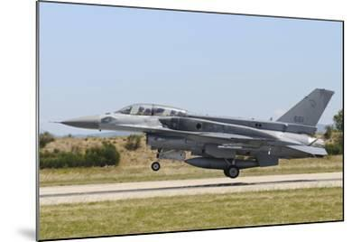 F-16D Falcon from the Republic of Singapore Air Force Landing-Stocktrek Images-Mounted Photographic Print