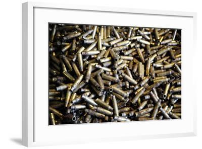 Empty 7.62Mm Brass Casings-Stocktrek Images-Framed Photographic Print