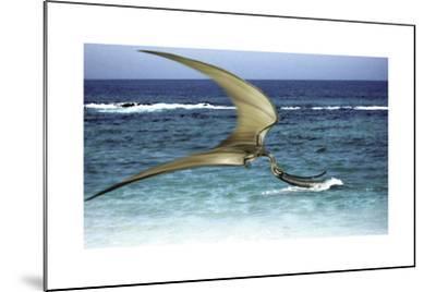 Pterodaustro Skimming the Water for Crustaceans-Stocktrek Images-Mounted Art Print