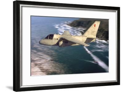 S-3 Viking Flying over San Diego, California-Stocktrek Images-Framed Photographic Print