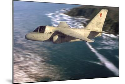 S-3 Viking Flying over San Diego, California-Stocktrek Images-Mounted Photographic Print