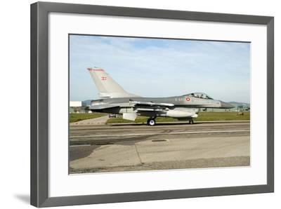 F-16A Mlu Falcon from the Royal Danish Air Force Taxiing at Grosseto Air Base-Stocktrek Images-Framed Photographic Print