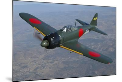 A6M Japaneese Zero Flying over Chino, California-Stocktrek Images-Mounted Photographic Print
