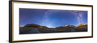 Panorama of the Columbia Icefields and Athabasca Glacier at Moonrise-Stocktrek Images-Framed Photographic Print