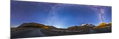 Panorama of the Columbia Icefields and Athabasca Glacier at Moonrise-Stocktrek Images-Mounted Photographic Print