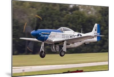 A P-51 Mustang Takes Off from Waukegan, Illinois-Stocktrek Images-Mounted Photographic Print