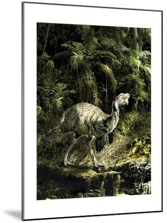 Citipati Dinosaur Seeking Prey in the Forest-Stocktrek Images-Mounted Art Print