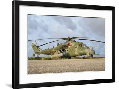 Brazilian Air Force Mi-35 at Natal Air Force Base, Brazil-Stocktrek Images-Framed Photographic Print