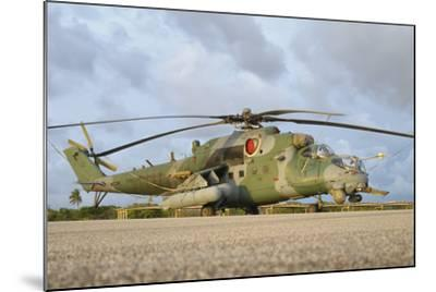 Brazilian Air Force Mi-35 at Natal Air Force Base, Brazil-Stocktrek Images-Mounted Photographic Print