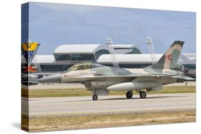 Venezuelan Air Force F-16 at Natal Air Force Base, Brazil-Stocktrek Images-Stretched Canvas Print