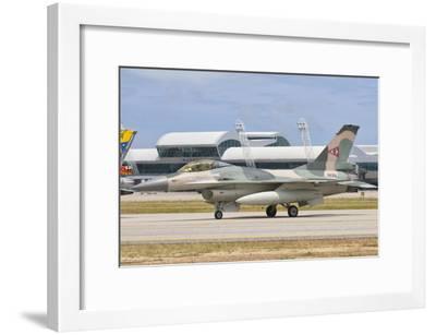 Venezuelan Air Force F-16 at Natal Air Force Base, Brazil-Stocktrek Images-Framed Photographic Print