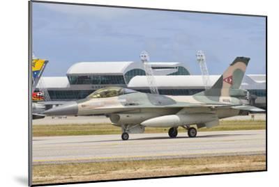 Venezuelan Air Force F-16 at Natal Air Force Base, Brazil-Stocktrek Images-Mounted Photographic Print