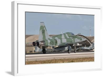 Brazilian Air Force F-5 at Natal Air Force Base, Brazil-Stocktrek Images-Framed Photographic Print
