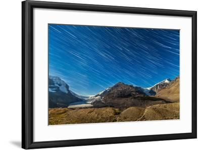 Star Trails over Columbia Icefields-Stocktrek Images-Framed Photographic Print