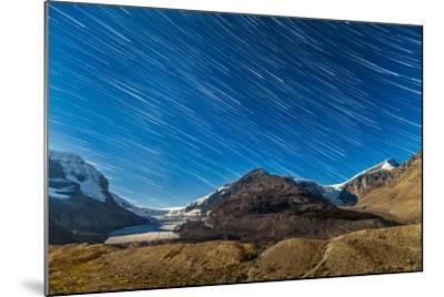 Star Trails over Columbia Icefields-Stocktrek Images-Mounted Photographic Print