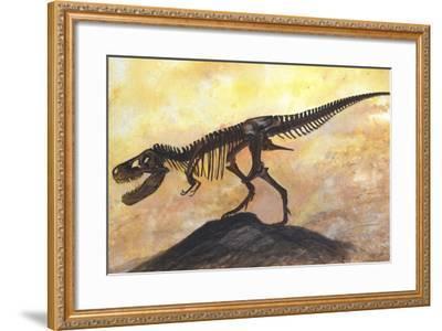 Tyrannosaurus Rex Dinosaur Skeleton-Stocktrek Images-Framed Art Print