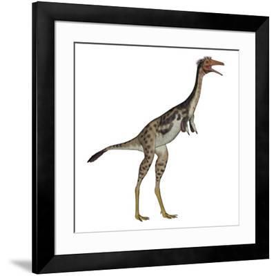 Mononykus Dinosaur Standing-Stocktrek Images-Framed Art Print