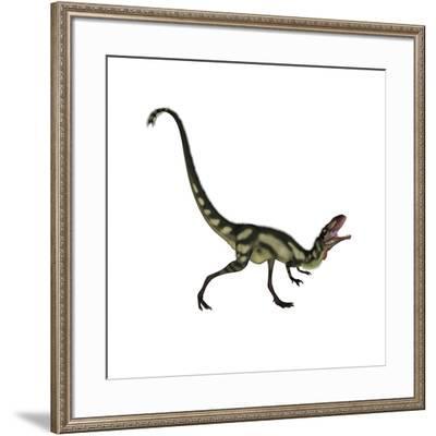 Dilong Dinosaur Roaring-Stocktrek Images-Framed Art Print