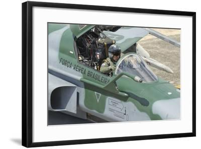 A Pilot Sitting in the Cockpit of a Brazilian Air Force F-5 Aircraft-Stocktrek Images-Framed Photographic Print