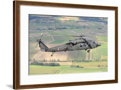 Uh-60 Black Hawk Helicopter of the Austrian Air Force in Flight-Stocktrek Images-Framed Photographic Print