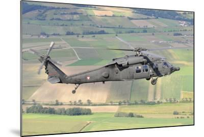 Uh-60 Black Hawk Helicopter of the Austrian Air Force in Flight-Stocktrek Images-Mounted Photographic Print