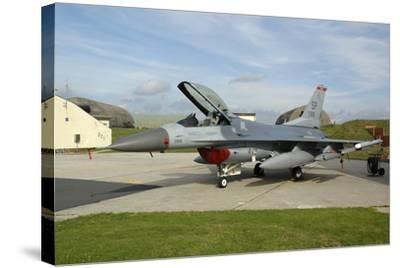 U.S. Air Forces Europe F-16Cj Block 50 at Spangdahlem Air Base, Germany-Stocktrek Images-Stretched Canvas Print