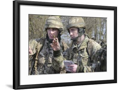 British Armed Forces Fire Control Group Planning a Firing Plan-Stocktrek Images-Framed Photographic Print