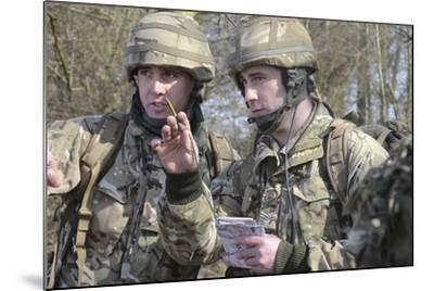British Armed Forces Fire Control Group Planning a Firing Plan-Stocktrek Images-Mounted Photographic Print