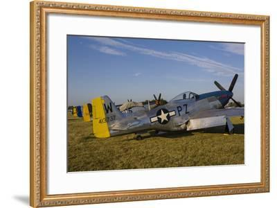 A P-51 Mustang Parked at Eaa Airventure, Oshkosh, Wisconsin-Stocktrek Images-Framed Photographic Print