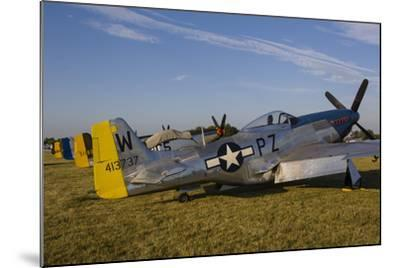 A P-51 Mustang Parked at Eaa Airventure, Oshkosh, Wisconsin-Stocktrek Images-Mounted Photographic Print