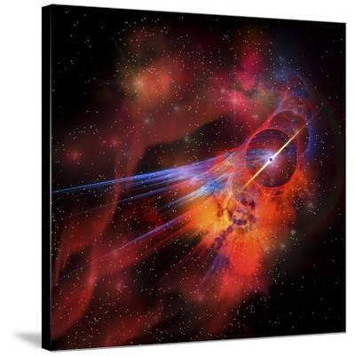 A Collection of Colorful Nebulae, Gases, Dust, Stars and Interstellar Matter-Stocktrek Images-Stretched Canvas Print