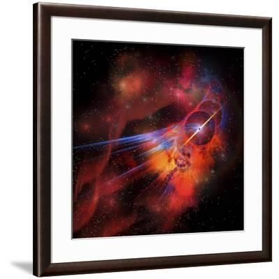A Collection of Colorful Nebulae, Gases, Dust, Stars and Interstellar Matter-Stocktrek Images-Framed Art Print