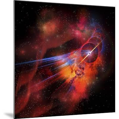 A Collection of Colorful Nebulae, Gases, Dust, Stars and Interstellar Matter-Stocktrek Images-Mounted Art Print