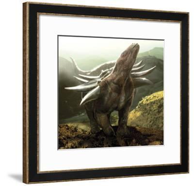 A Heavily Armored Panoplosaurus Dinosaur-Stocktrek Images-Framed Art Print