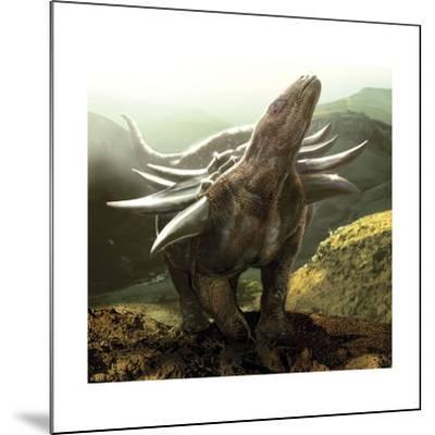 A Heavily Armored Panoplosaurus Dinosaur-Stocktrek Images-Mounted Art Print