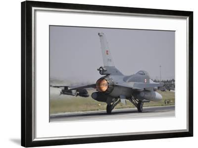 A Turkish Air Force F-16C Block 52+ Taking Off from Konya Air Base, Turkey-Stocktrek Images-Framed Photographic Print