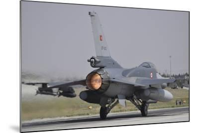 A Turkish Air Force F-16C Block 52+ Taking Off from Konya Air Base, Turkey-Stocktrek Images-Mounted Photographic Print