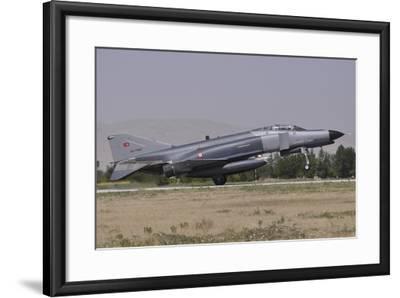 A Turkish Air Force F-4E 2020 Terminator Landing at Konya Air Base, Turkey-Stocktrek Images-Framed Photographic Print