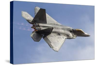 A U.S. Air Force F-22 Raptor Makes a Fast Flyby-Stocktrek Images-Stretched Canvas Print