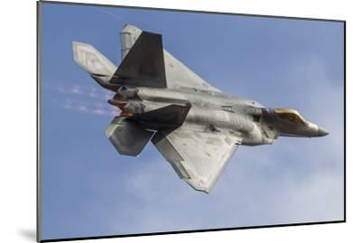 A U.S. Air Force F-22 Raptor Makes a Fast Flyby-Stocktrek Images-Mounted Photographic Print