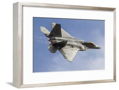 A U.S. Air Force F-22 Raptor Makes a Fast Flyby-Stocktrek Images-Framed Photographic Print
