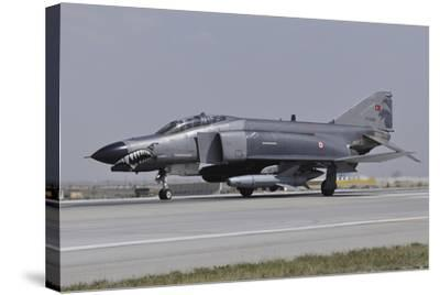 A Turkish Air Force F-4E 2020 Terminator Ready for Take-Off-Stocktrek Images-Stretched Canvas Print