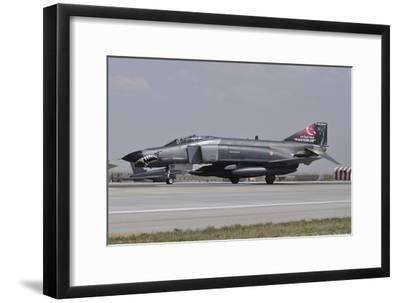 A Turkish Air Force F-4E 2020 Terminator Ready for Take-Off-Stocktrek Images-Framed Photographic Print