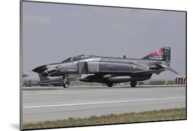 A Turkish Air Force F-4E 2020 Terminator Ready for Take-Off-Stocktrek Images-Mounted Photographic Print
